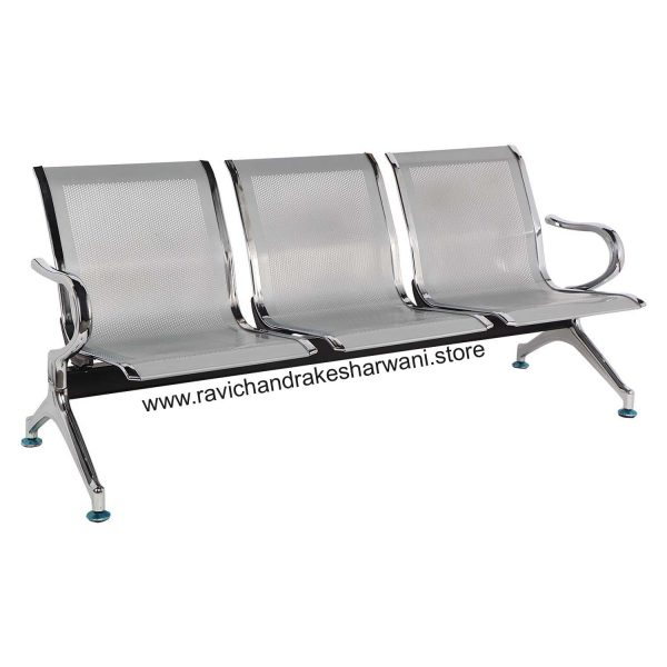 3 seater steel chair