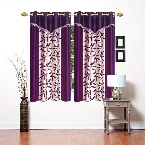 curtains 4x5 ft printed